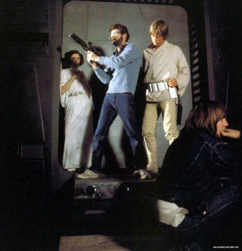 Lucas directing on Star Wars Set