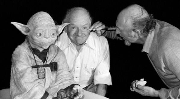 Stuart Freeborn and Yoda